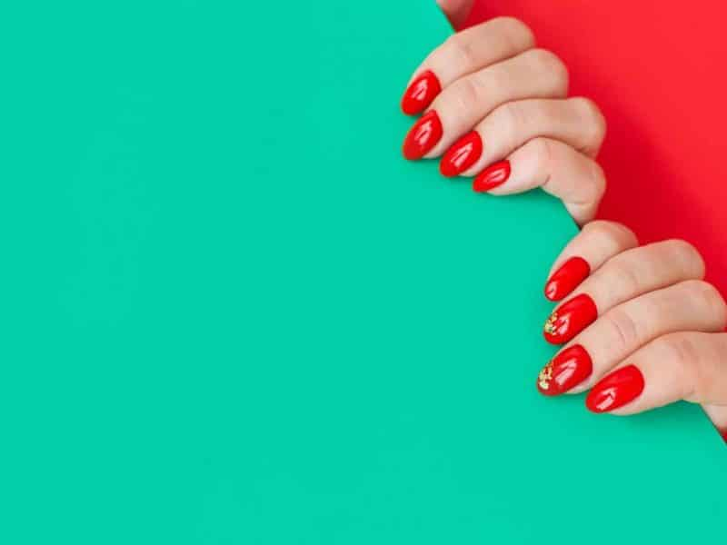 Red Squoval Nails