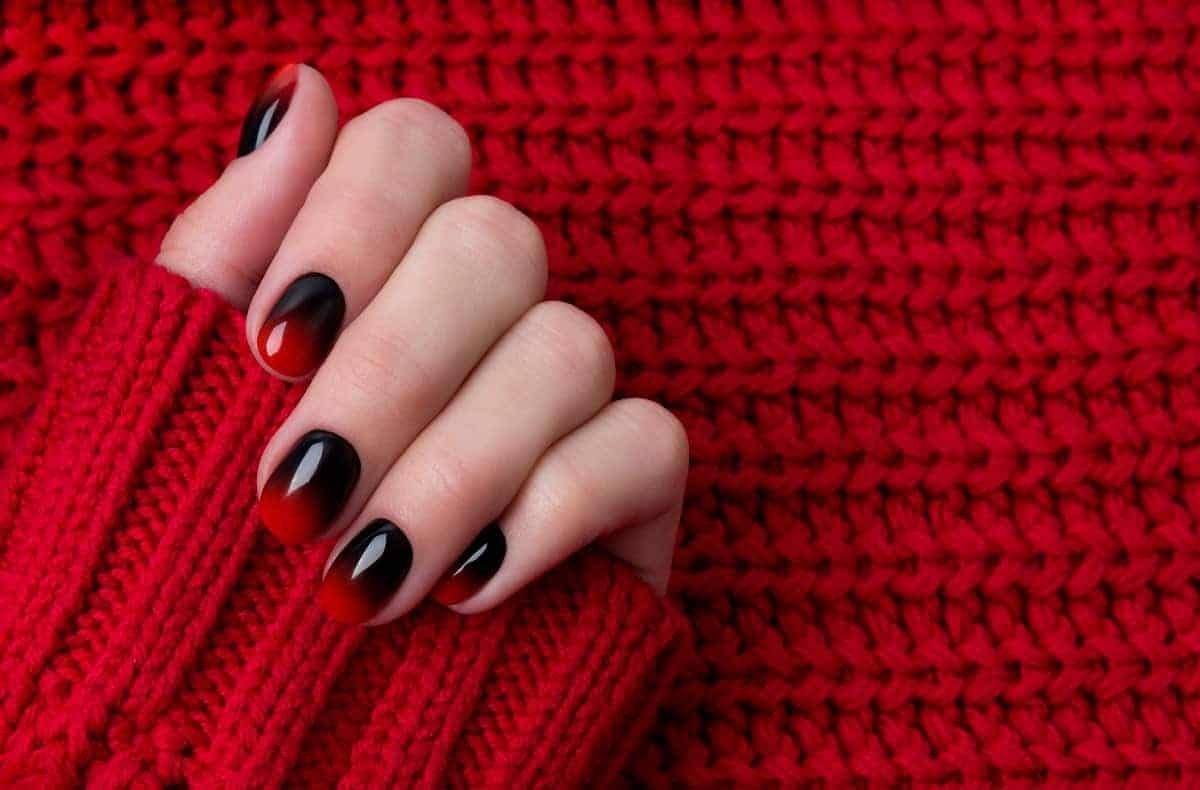 Top 15 Easy Red And Black Nail Arts