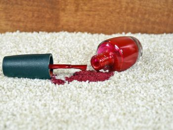 get nail polish out of carpet