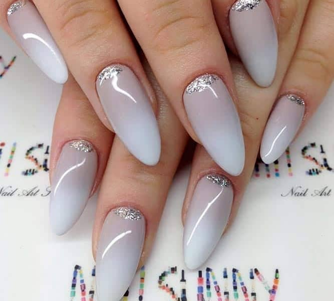 Beautiful Grey Ombre Nails
