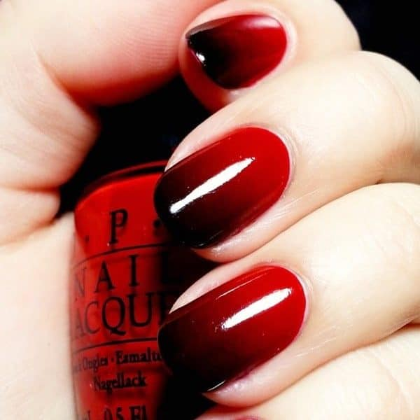 Dramatic Vampy Ombre Nails