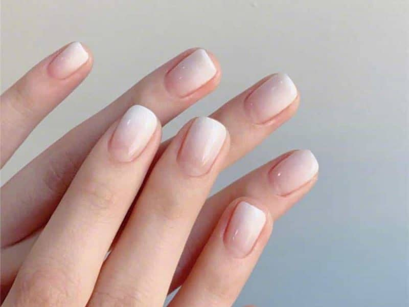 French Ombre NaIls Square Shape