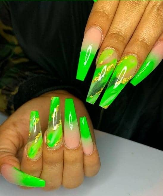 Green Prom Inspired Ombre
