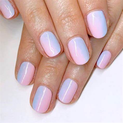 Ombre Inspired Short Manicure