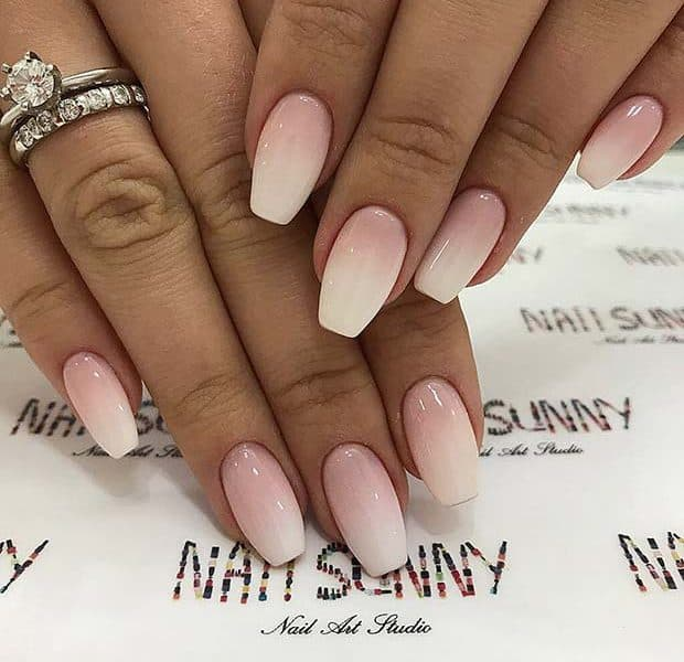 Short Prom Inspired Pink Ombre Nails
