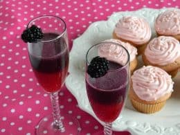 Pink Champagne Cupcakes with Champagne Frosting