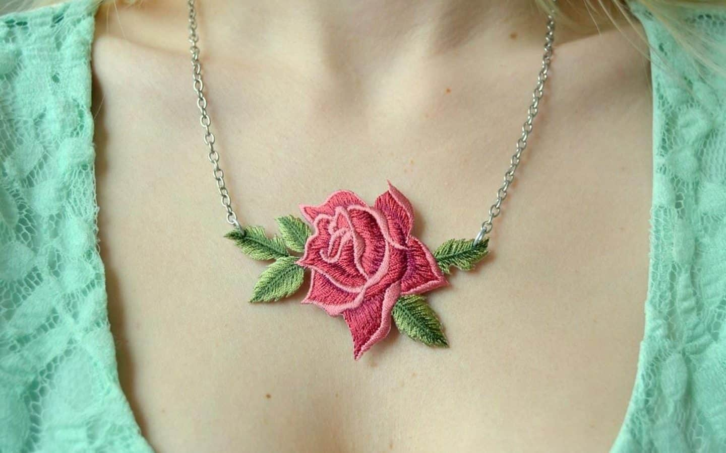 Rose Patch Necklace