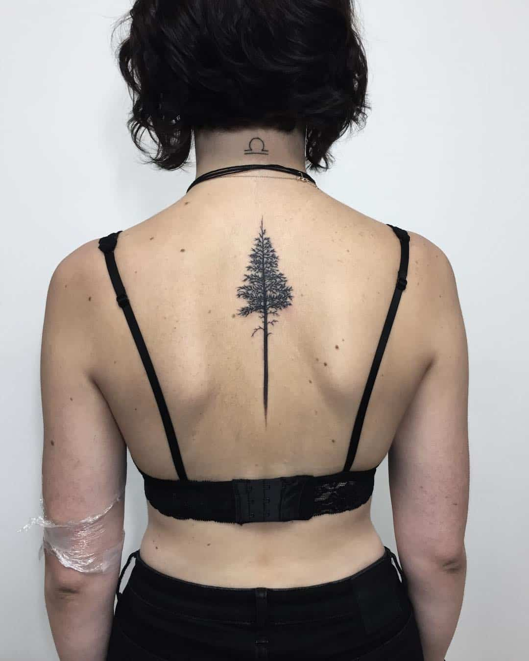 Long Tree Inspired Back Tattoo