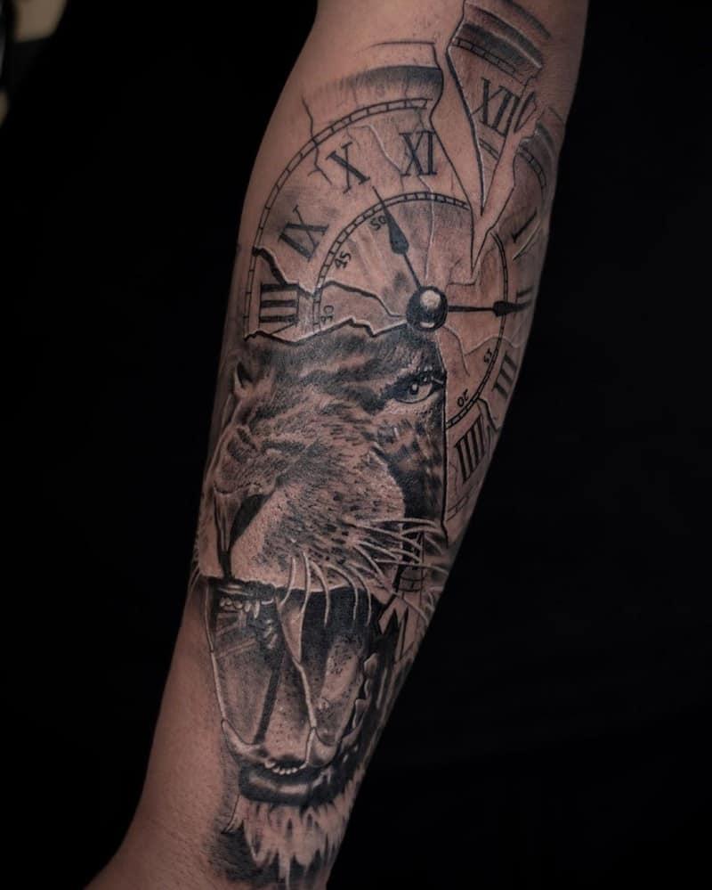 half sleeve tattoos for men Dinosaur