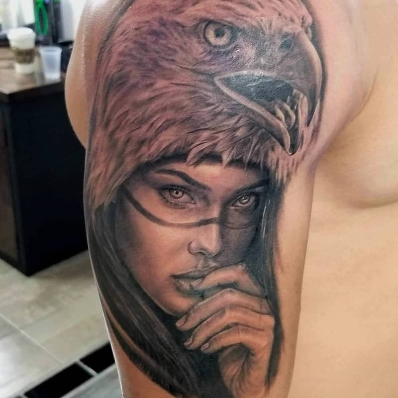 half sleeve tattoos for men Eagle