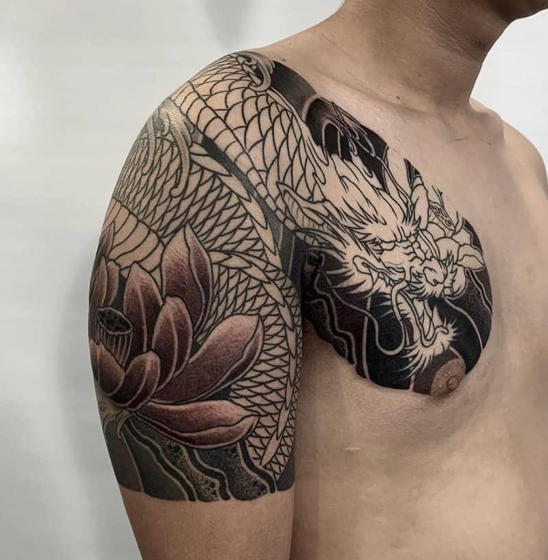 half sleeve tattoos for men Flower