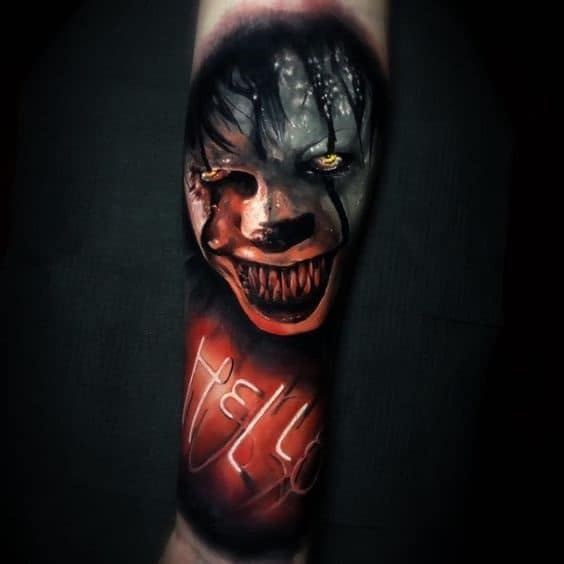 half sleeve tattoos for men Pennywise