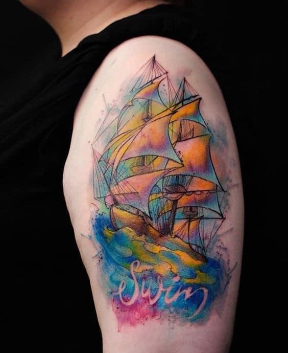 half sleeve tattoos for men Ship