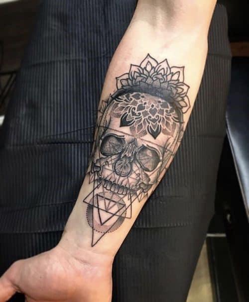 half sleeve tattoos for men Skull
