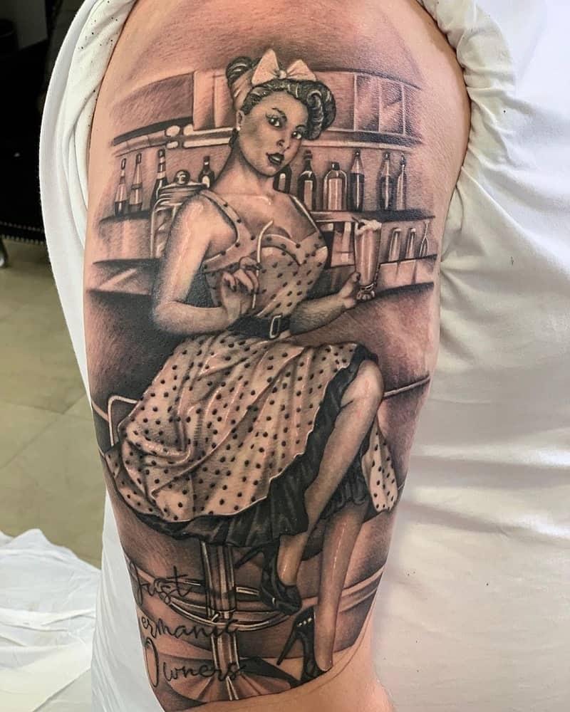 half sleeve tattoos for men pin