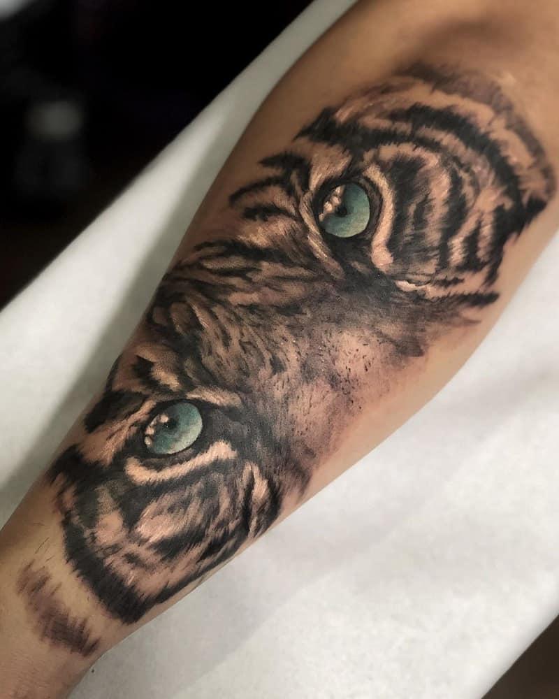 half sleeve tattoos for men tiger