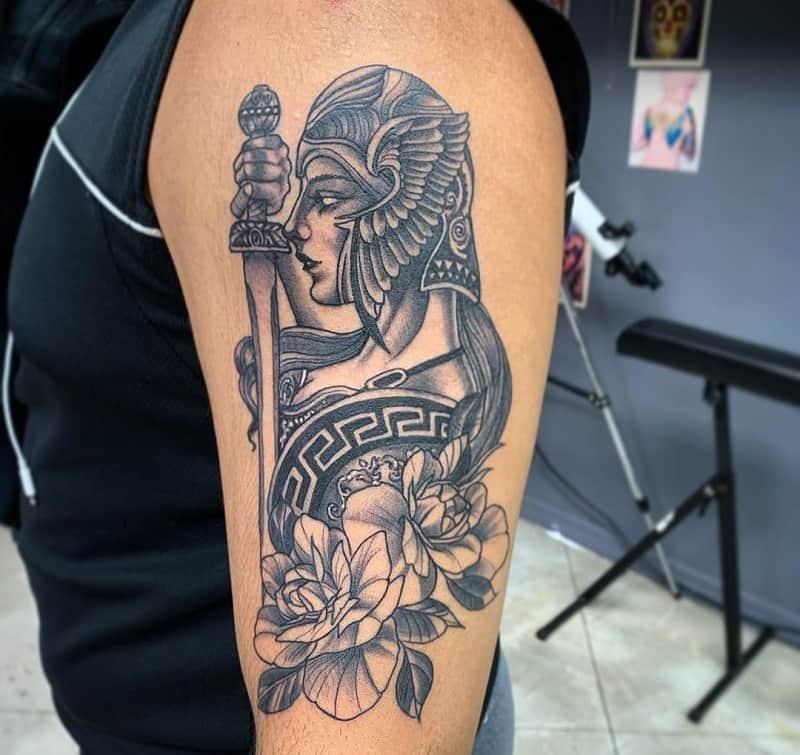 half sleeve tattoos for men warrior