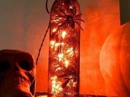 HALLOWEEN WINE BOTTLE LAMP
