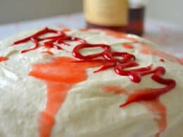 REDRUM CAKE WITH BOOZY CREAM CHEESE FROSTING