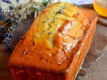 LEMON AND LAVENDER BREAD WITH HONEY LEMON GLAZE