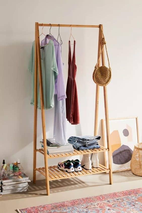 10. Boho Casual DIY Clothing Rack