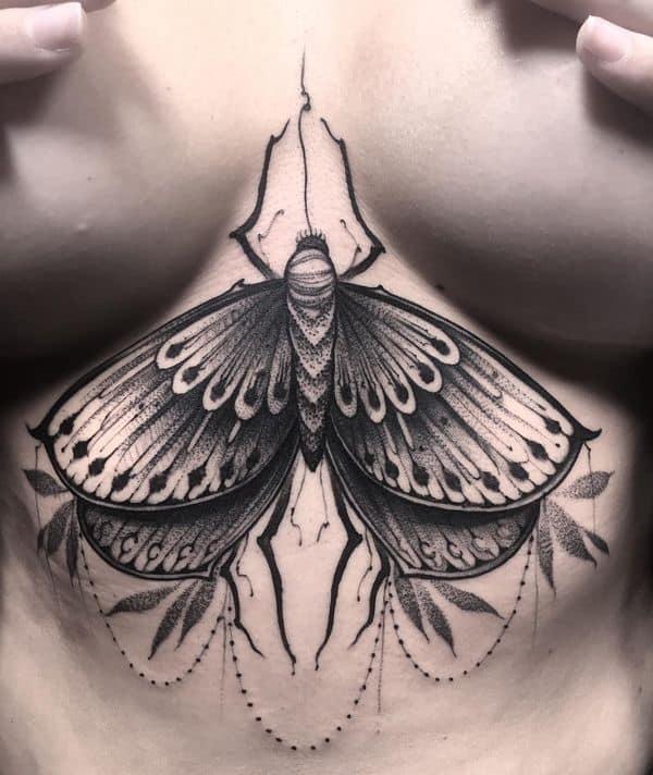 Mandala Tattoo Under Breast