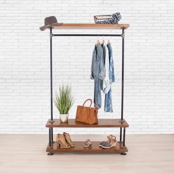 12. Men & Women Inspired Simple DIY Clothing Rack