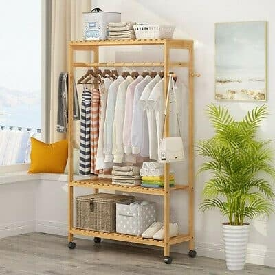 13. Light Colored Inspired DIY Clothing Rack