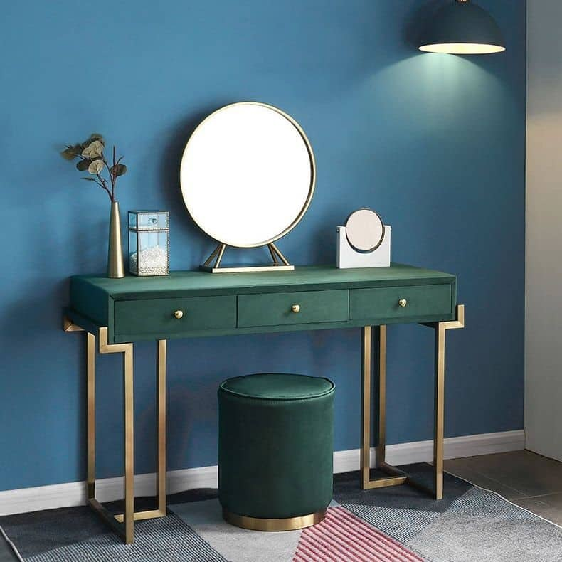 14. Gorgeous All Green Vanity Set-up