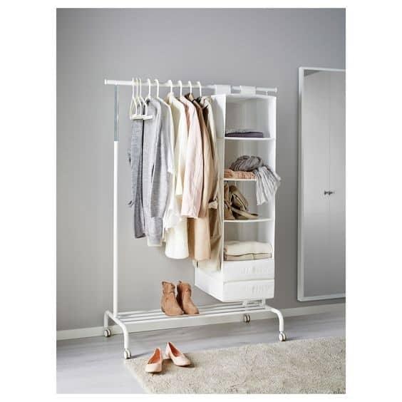 15. Feminine White DIY Clothing Rack