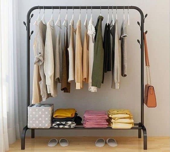 16. Spacious Modern Black Clothing Rack