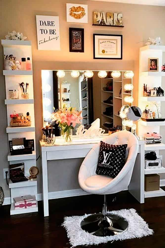 16. Urban & Modern Chic Vanity Table