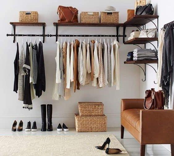 19. Modern And Spacious Black Clothing Rack