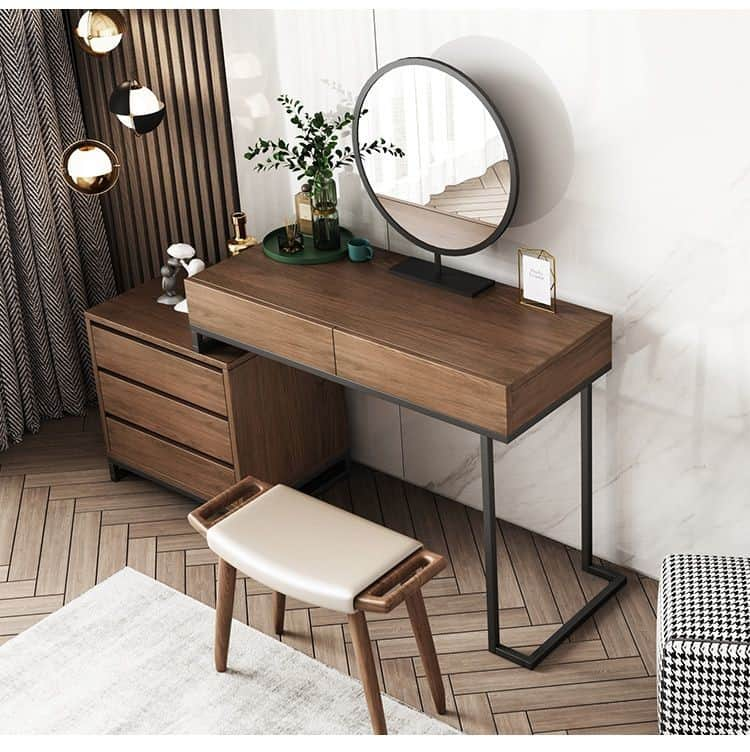 25. Rustic Vibes Dark Brown Vanity