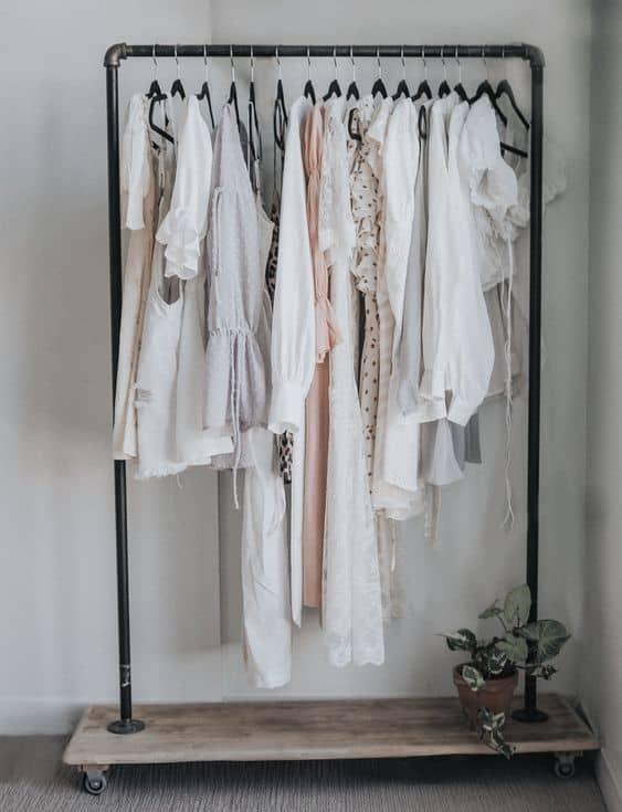 3. Casual DIY Clothing Rack