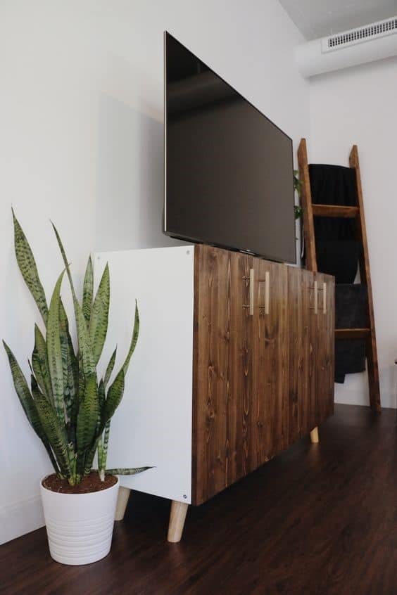 5. Brown And Urban Vintage DIY TV Stand
