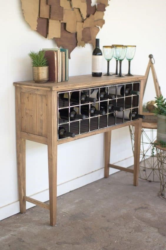6. Cabinet Inspired Open Concept Wine Rack