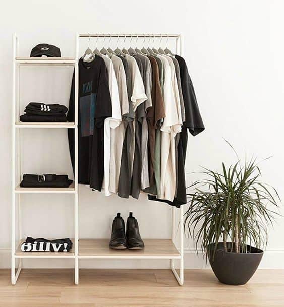 8. Grey & White Casual DIY Rack