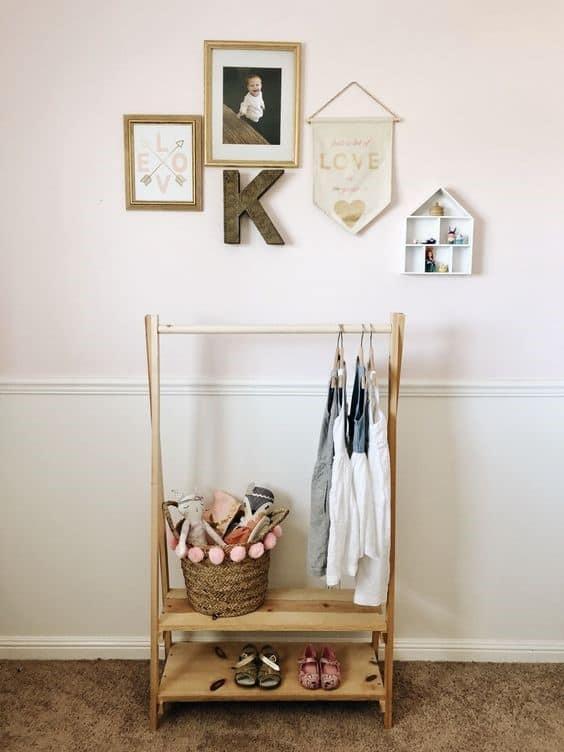 9. Playful And Feminine Inspired Clothing Rack