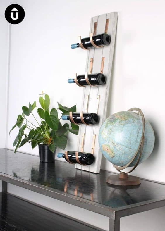 . Door Frame Inspired DIY Wine Rack In White Color