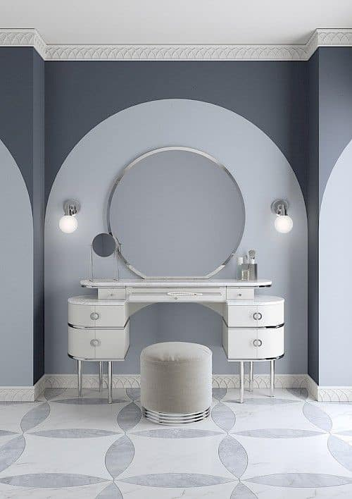 Modern & Beautiful Grey Vanity Desk