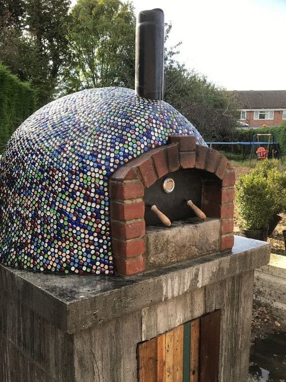 . Mosaic Inspired Pizza Oven