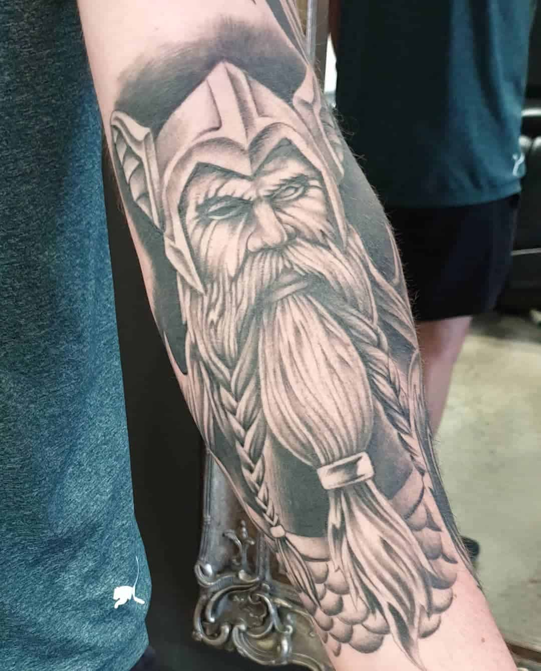 Norse Mythology Inspired Celtic Image Of A Warrior