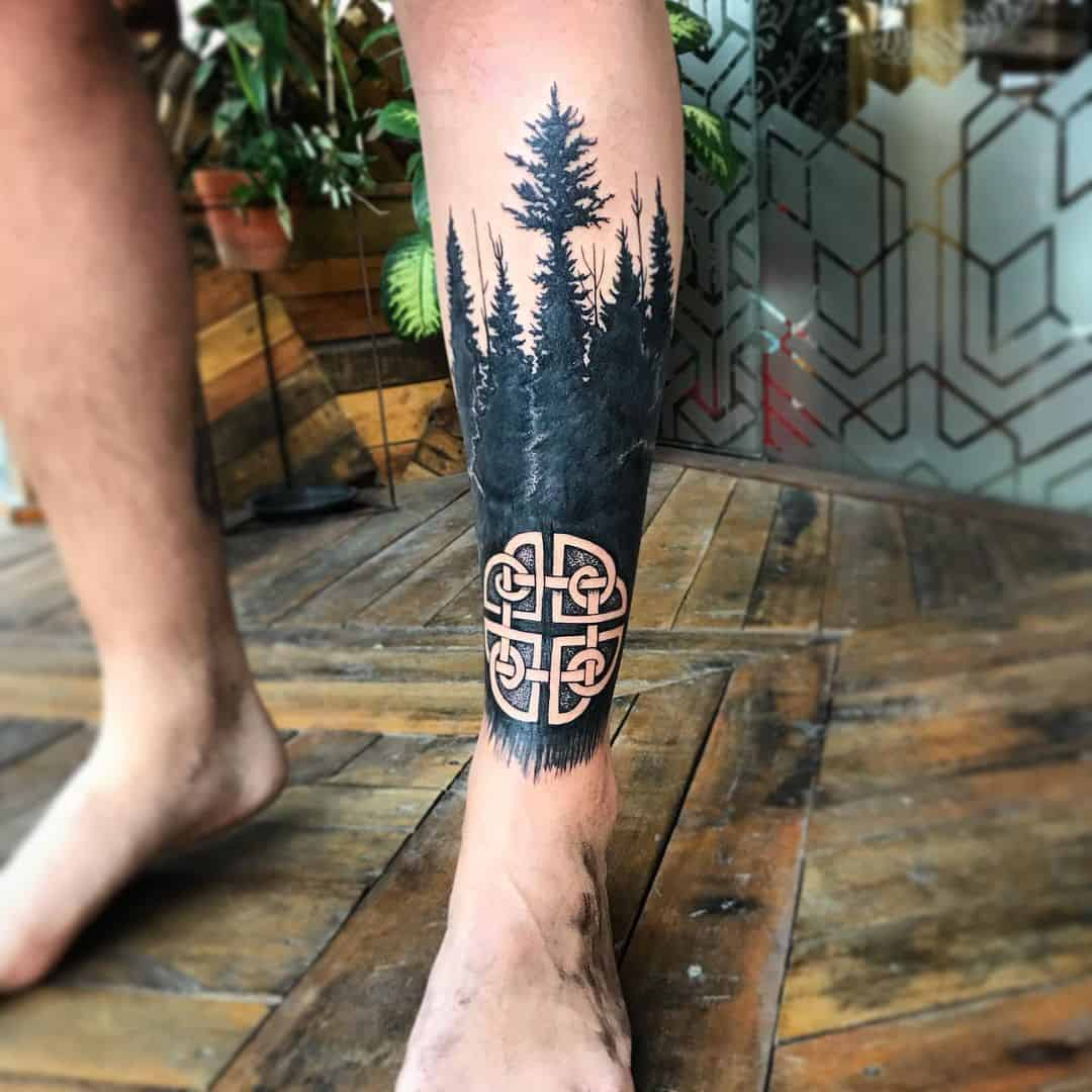 Norse Tattoos Forest Inspired Symbol With Tree Design