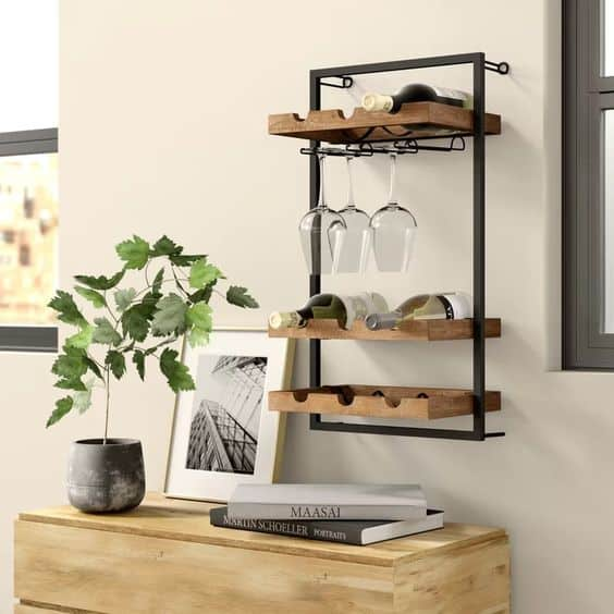 Picture Metal Frame With Wooden Boards