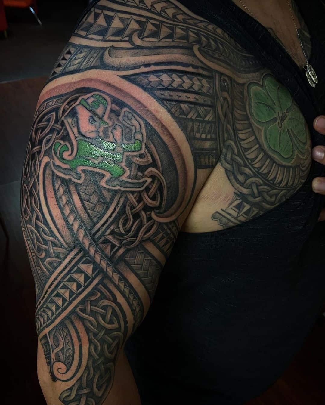 Traditional Celtic Tattoos Scottish Celtic Tattoos Green Ink