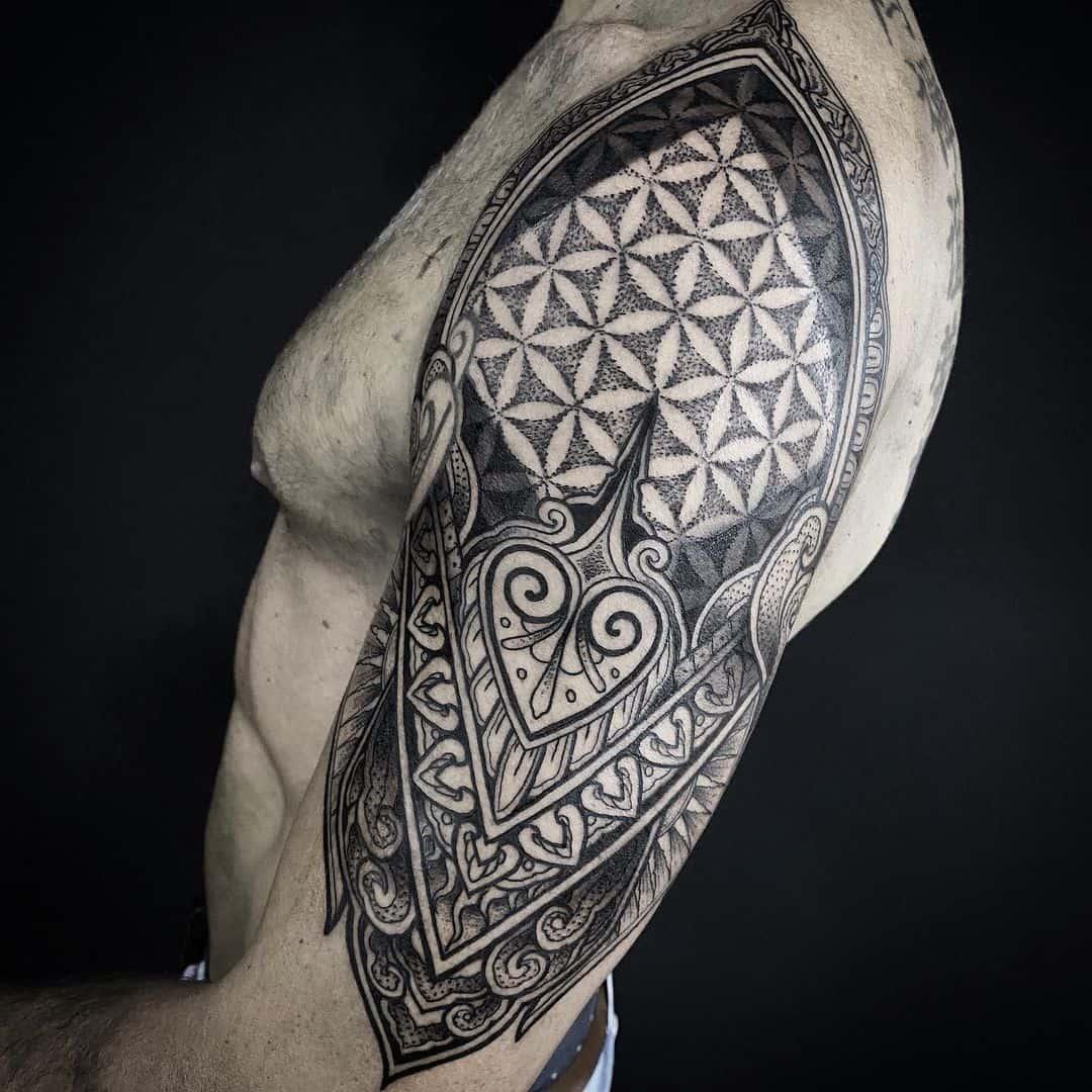 Tribal Inspired Mandala Tattoo Sleeve