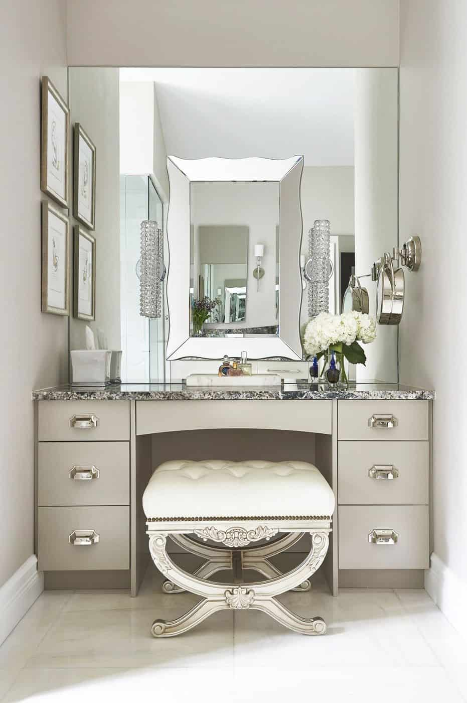 . Unique And Elegant All Silver Vanity