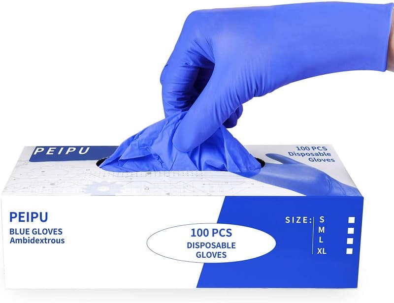 PEIPU Nitrile and Vinyl Blend Material Disposable Gloves