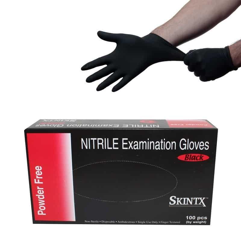 Skintx Black Nitrile Powder Free Medical